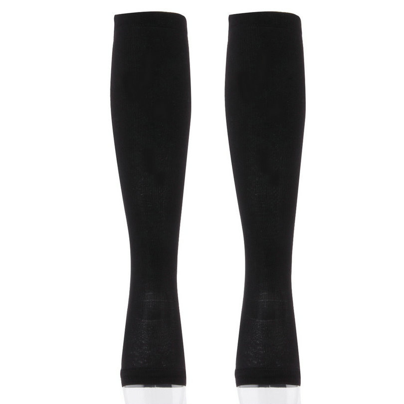 HTB1oDOdo2iSBuNkSnhJq6zDcpXaW - Unisex Open Toe Compression Socks Knee Length Zipper
