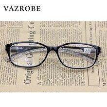 Vazrobe Reading Glasses Men Women +125 175 225 275 325 375 150 250 300 Transparent diopter male presbyopia eyewear vision