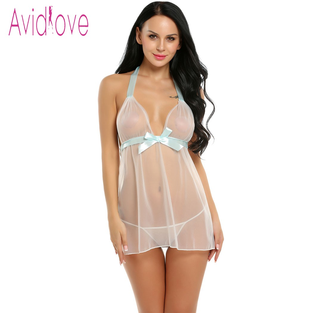 Dropwow Avidlove Sex Clothes Plus Size Nightgown Sexy Lingerie Dress ... f813ffc11