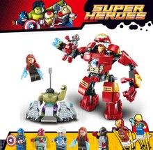 цена на 8019 Avengers Super Heroes 76031 Hulk Buster Ultron Iron Man Scarlet Vision Captain America Building Blocks Figures Bricks Toys