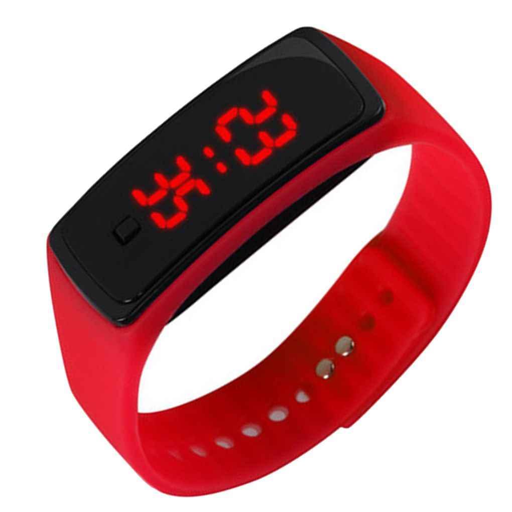 子供女性男性 LED ブレスレットシリコーン日付デジタル屋外スポーツ時計時計腕時計トイ少年少女誕生日ギフト