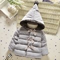 2016 New Baby Girl Clothes Winter Autumn Thickening Baby Cotton Clothing Children Fashion Coats Hooded Kids Infantil Outerwear