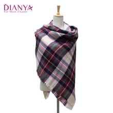 za winter scarf 2016 Tartan Scarf women Plaid Scarf cuadros New Designer Unisex Acrylic Basic Shawls warm bufandas