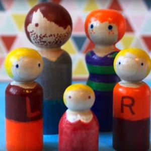 Image 5 - Peg bebek seti 40 adet ahşap aile oyuncak bebekler (43mm/55mm) bitmemiş boyasız düğün kek bebek bahçe odası dekor el yapımı