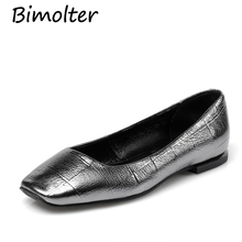 Bimolter Genuine Leather Flats Woman Natural Cow Women Slip On Womens Loafers Driving Shoes Female Moccasins B031