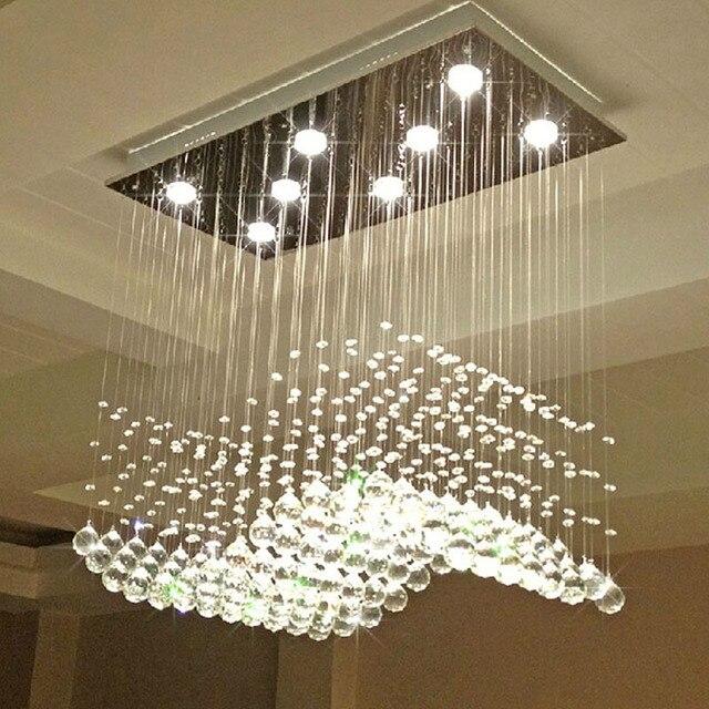 Z Moderne Welle geformt Klar K9 Kristall Lampen Luxus Restaurant ...