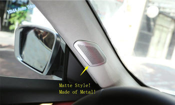 Lapetus Car Styling Pillar A Stereo Speaker Audio Sound Frame Cover Trim Fit For Maserati Levante 2016 - 2020 / Stainless Steel фото