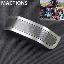 Motorcycle Front Fender Skirt Trim Cover Chrome For Harley Touring Road King Electra Glide Ultra Limited Tri Glide FLHR 2014 17