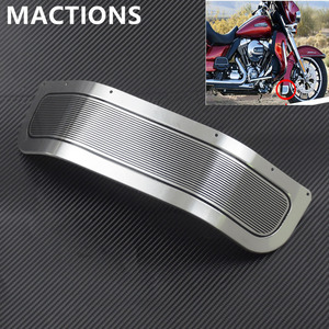Image 1 - Motorcycle Front Fender Skirt Trim Cover Chrome For Harley Touring Road King Electra Glide Ultra Limited Tri Glide FLHR 2014 17
