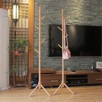 175x43cm Hanger Floor Standing Coat Rack Clothes Hanging Storage Rack Wooden Hanger
