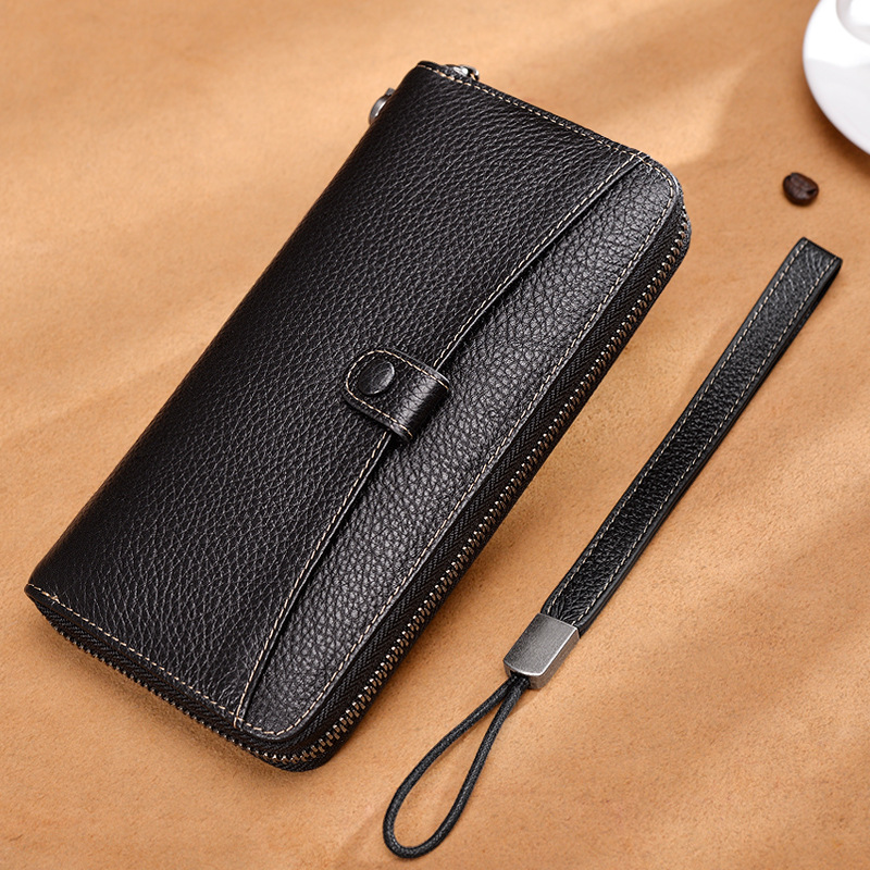 Tynies retro multifunctional wallet male long zipper leather clutch leather wallet leisure large capacity clutch zuoyi crocodile leather original zipper snap multifunctional in large capacity and long wallet