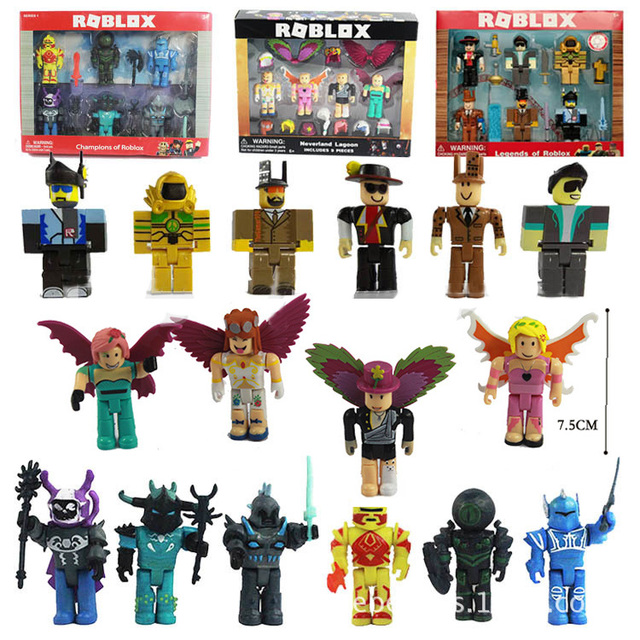 4/6/9pcs Roblox Characters Figure 7/7.5cm PVC Game Figma Oyuncak Action Figuras Toys Boy Backpack  Children Party Birthday Gifts 2