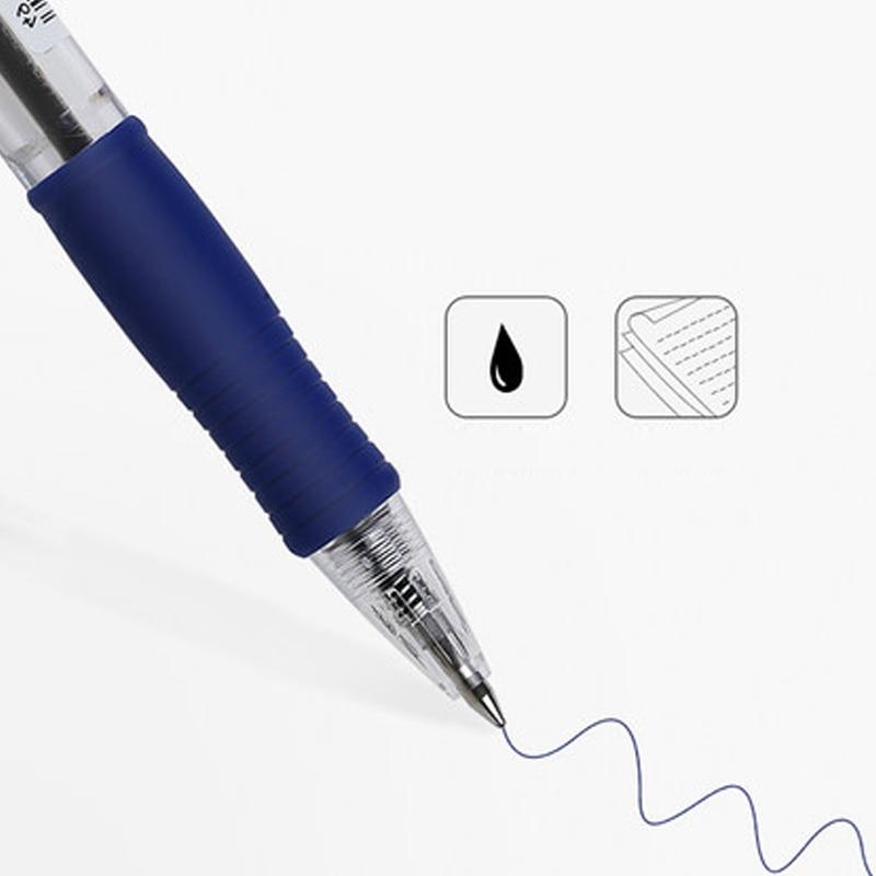 Image 2 - 9 Pieces Pilot BPGP 10R SUPER GRIP Ballpoint Pens Ball Point Pen transparent plastic 0.7mm Office School Suppliesball penpen japan0.7 mm pen -