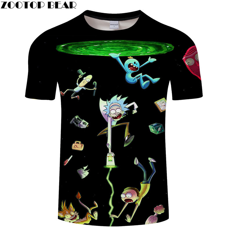 Cartoon Rick and Morty 3D Print t shirt Men Women tshirt Summer Anime Short Sleeve O-neck Tops&Tees Play Drop Ship ZOOTOP BEAR