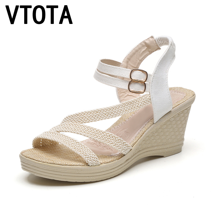 VTOTA Platform Sandals Women Summer Women Wedges Shoes Gladiator Sandals Women Open Toe Female Casual Shoes sandalia mujer A96 2017 gladiator summer shoes woman platform sandals women flats soft leather casual open toe wedges sandals women shoes r18