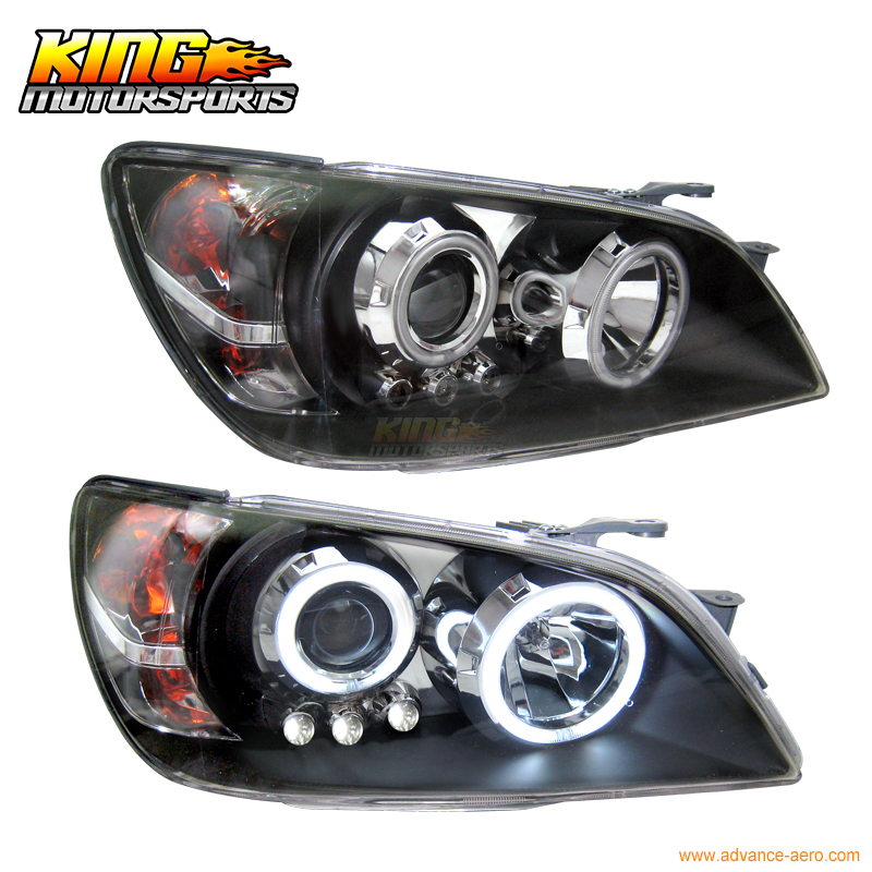 For 01-05 Lexus IS300 CCFL Halo Projector Headlights 02 03 04 USA Domestic Free Shipping for 2005 2008 bmw e90 e91 4dr wgn projector headlights halo ccfl 06 07 us domestic free shipping