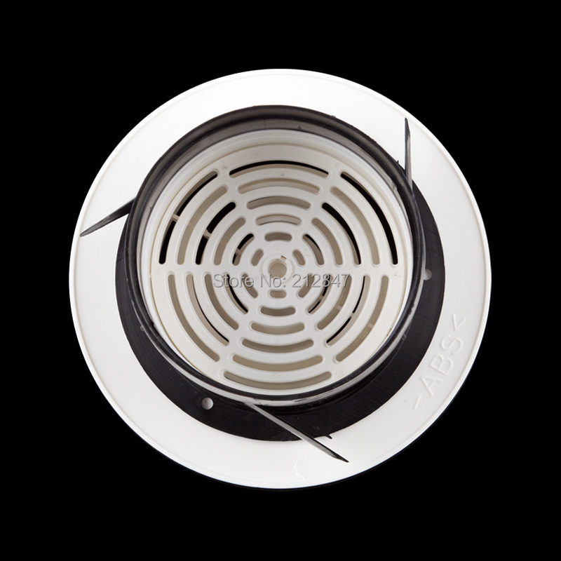 Extractor Fan Round Rotary Adjustable Ventilation Grille Air Vent White for 100mm Duct