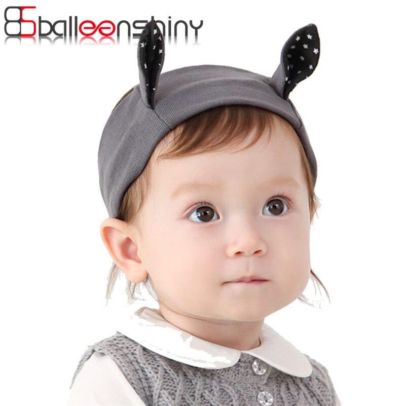 BalleenShiny Baby Girls Boys Hair Headwear Cute Rabbit Ears fashion Hair Bands headbands Children Hair Accessories Photograph