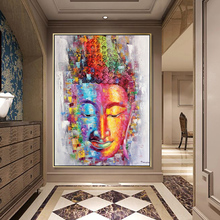 Buddha Canvas Painting Picture Wall Art Home Decoration Hand painted Modern Abstract Oil Painting on Canvas Gift Unframed