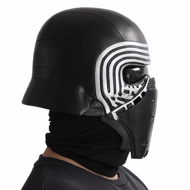 X-COSTUME Star Wars 7 The Force Awakens Kylo Ren Helmet Cosplay Props Cool PVC Full Head Helmet Black Mask Halloween Accessories 1