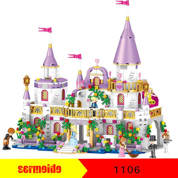 Girls Friends QL1106 731PCS Building Blocks Princess Windsor Castle Bricks Compatible Legoings 41148 Toy for Girl Christmas Gift