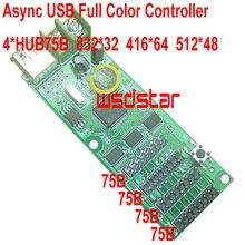 Дешевый Async USB полноцветный контроллер 832*32 4 * HUB75 дизайн для небольшого размера светодиодный дисплей мини RGB LED контроллер 2 шт./лот