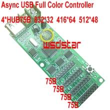 Cheap Async USB full color controller 832*32 4*HUB75 Design for small size LED display Mini RGB LED controller 2pcs/lot