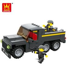 Military series Terrorist Attack Special Force Military truck Building Block Solider Brick Toy Christmas