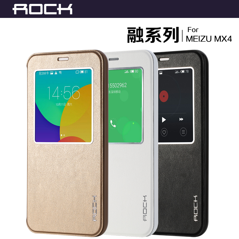 3 Color Original New Brand Smart View window Flip Cover Case for Meizu 4 MX4 Leather Case,luxury phone cover For Meizu mx 4