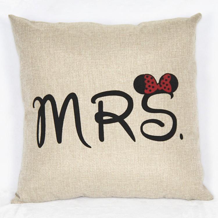 HTB1oDRmJVXXXXblXFXXq6xXFXXXq - Poszewka na poduszkę Mr and Mrs