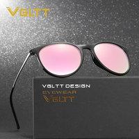 VGLTT Pink Sunglasses Classic Mirror Sun Glasses Women UV400 Vintage Hot Sale Rose Gold Female Cat