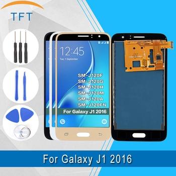 삼성 갤럭시 j1 2016 j120f j120ds j120g j120m j120 lcd 디스플레이 밝기 조정 터치 스크린 디지타이저 어셈블리