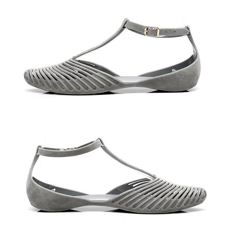2018 Baotou Non Chaussures slip 2 Avec Rome Été En Nouveau Plastique 1 Femelle Plage Plat rBYwCrSqxA