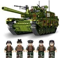Военная тематическая военная машина Китай 99 боевой танк строительные блоки большие творческие модели развивающие игрушки Кирпичи совмест
