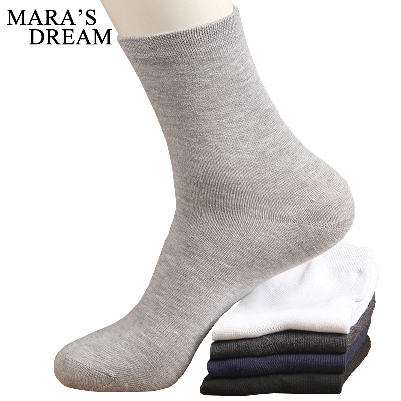 10pcs=5pairs/lot High Quality Men's Business Cotton   Socks   For Man Brand Autumn Winter Black   Socks   Male White Casual   Socks   2019