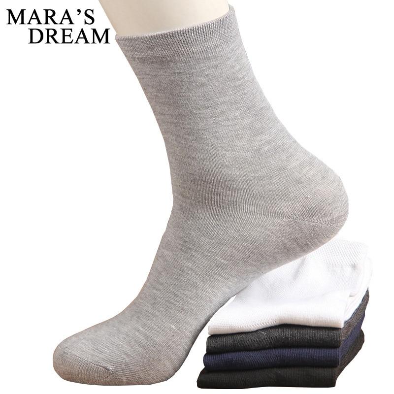 10pcs=5pairs/lot High Quality Men's Business Cotton   Socks   For Man Brand Autumn Winter Black   Socks   Male White Casual   Socks   2019