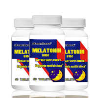 Big deal Freies verschiffen 3 Flaschen melatonin 5mg 60 stücke Insgesamt 180 stücke Unterstützt erholsamen schlaf