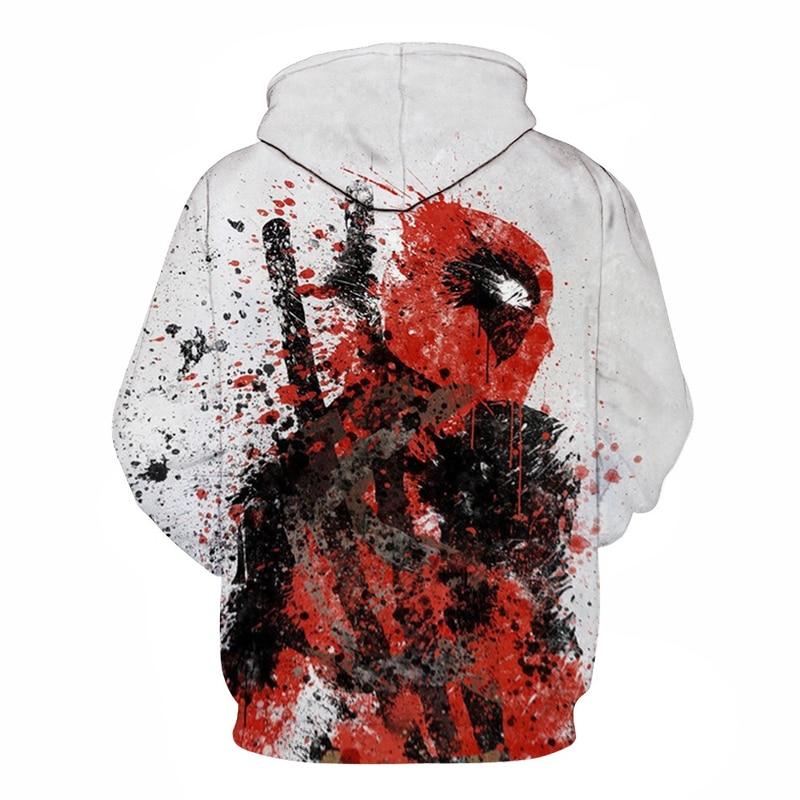 f613a5133 Skup Nowe Marvel Deadpool Bluza Moda Śmieszne Mężczyźni Kobiety Z Długim  Rękawem Streetwear Kapturem DC Comics 3D Druku Bluzy Mężczyźni Hip Hop 2019  ...