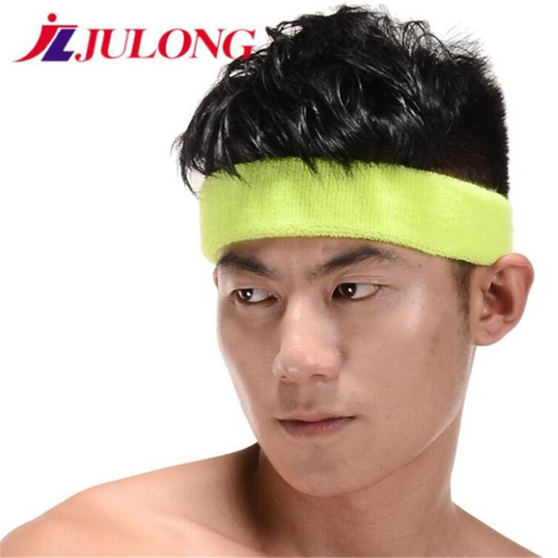 jLJULONG new 10PCS Sweat-absorbent sports headband basketball head fitness sport fitness belt Yoga Badminton tennis training 868