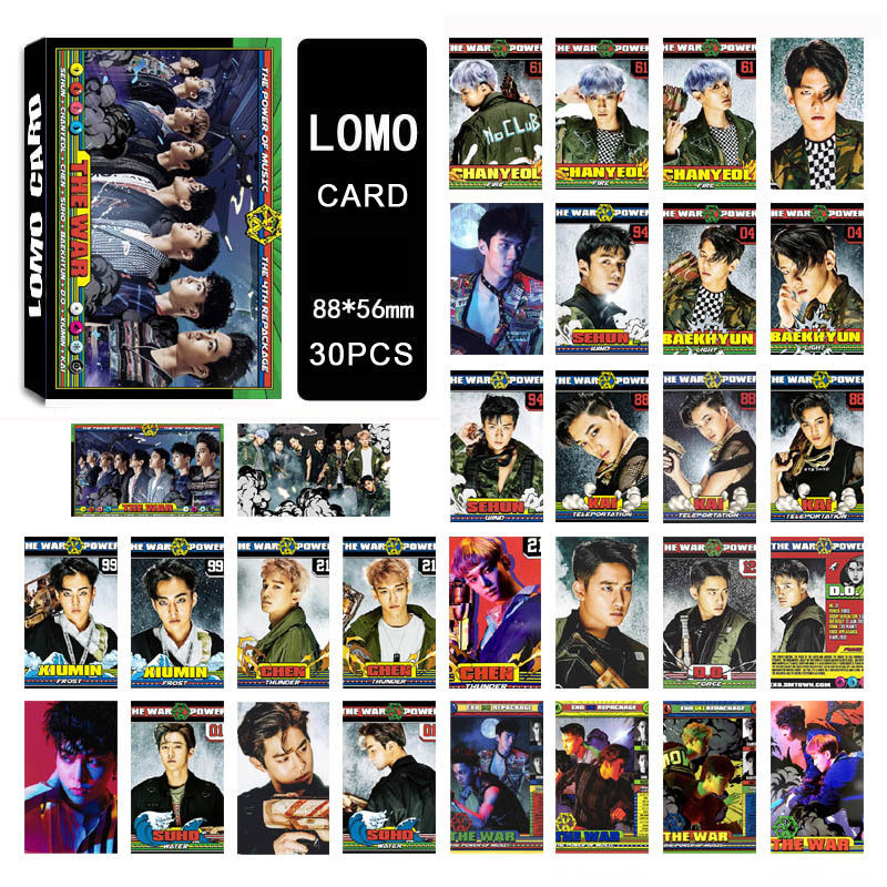 Classic Toys Kpop Exo The War Lomo Cards The Power Of Music Photo Card Poster Sehun 30pcs Set Elegant Shape Stickers