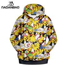 Pokemon Go Cartoon Collage Women Hoodies Sweatshirt