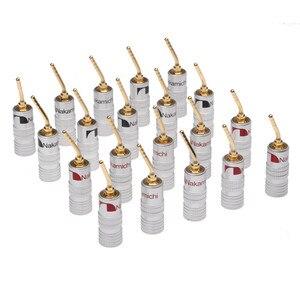 Image 1 - Conectores Banana 20 piezas de 2mm para altavoz, conector de Cable chapado en oro para Audio, Kit de adaptador de altavoz Musical HiFi