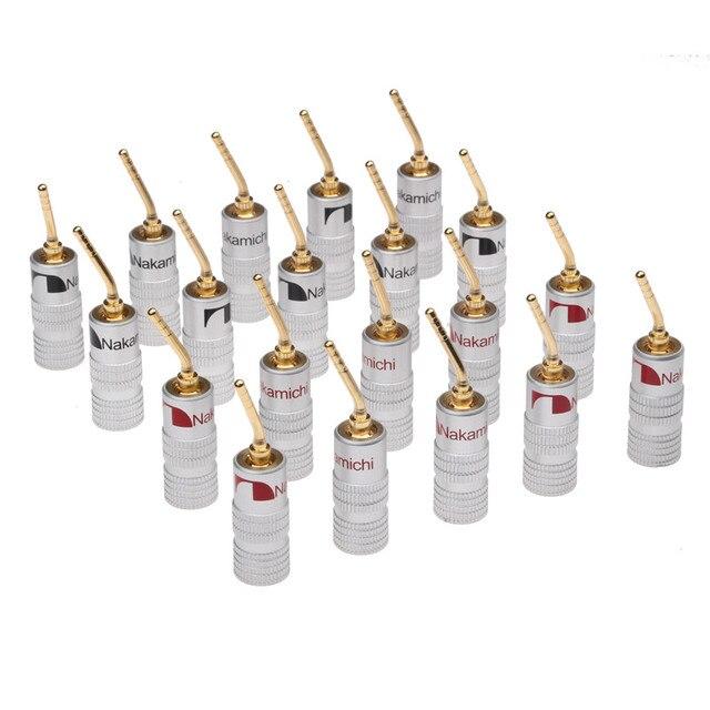 Conectores Banana 20 piezas de 2mm para altavoz, conector de Cable chapado en oro para Audio, Kit de adaptador de altavoz Musical HiFi