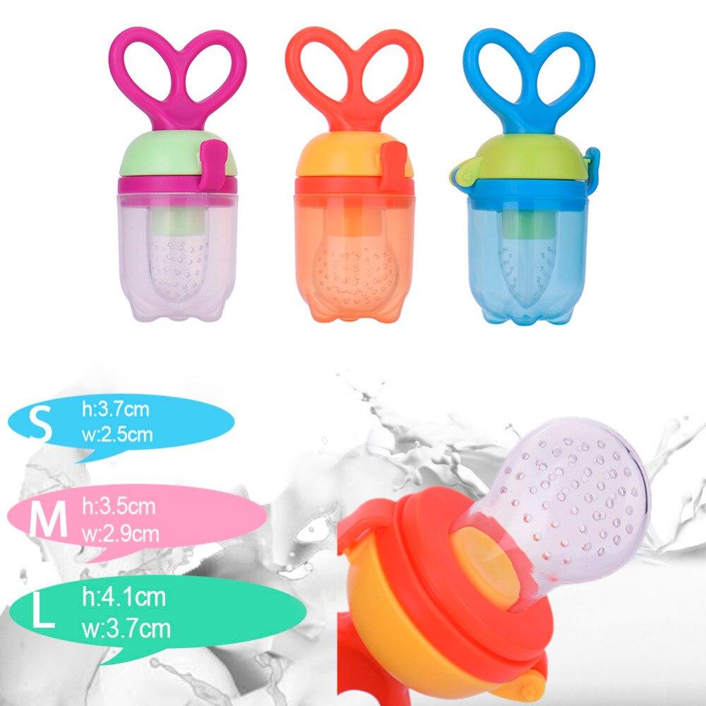 1Pc Baby Pacifier Teether Food Fruit Milk Feeder Kids Nipple Feeding Safe Newborn Pacifier Bottles Baby Soother Nipple BPA Free