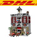 2017 New LEPIN 15004 2313Pcs City Creator Fire Brigade Model Building Kit Figure Blocks Brick Compatible Children Toy Gift 10197