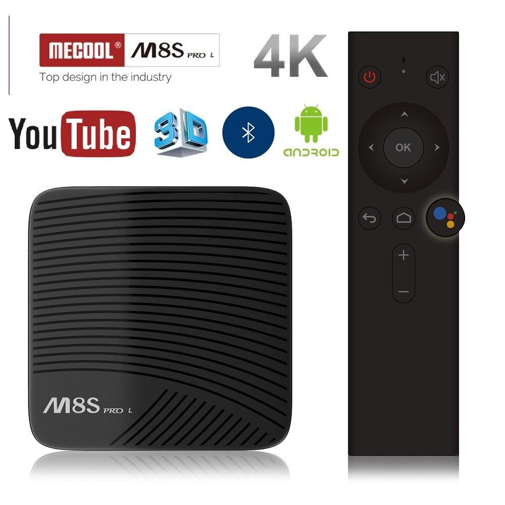MECOOL M8S PRO L 4 K TV BOX Android 7,1 Amlogic S912 3D HD Smart TV BOX 3G RAM Bluetooth Set-Top Box Control de voz reproductor de medios