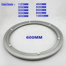 Наружный диаметр 600 мм(24 дюйма) тихий и гладкий твердый алюминий ленивый Susan подшипник поворотный стол поворотная пластина