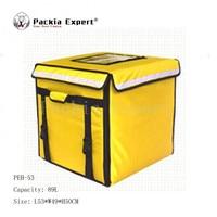 89l 46*46*42 см Еда доставки мешок торт или сок теплоизоляция сумка Доставка пиццы мешок с поддержка желтый Цвет Модель: peh 53