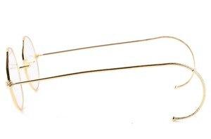 Image 2 - AGSTUM 39mm okrągły Vintage Antique Wire okulary do czytania czytnik okularów + 0.25 + 0.5 + 0.75 + 1.0 + 1.25 + 1.5 + 1.75