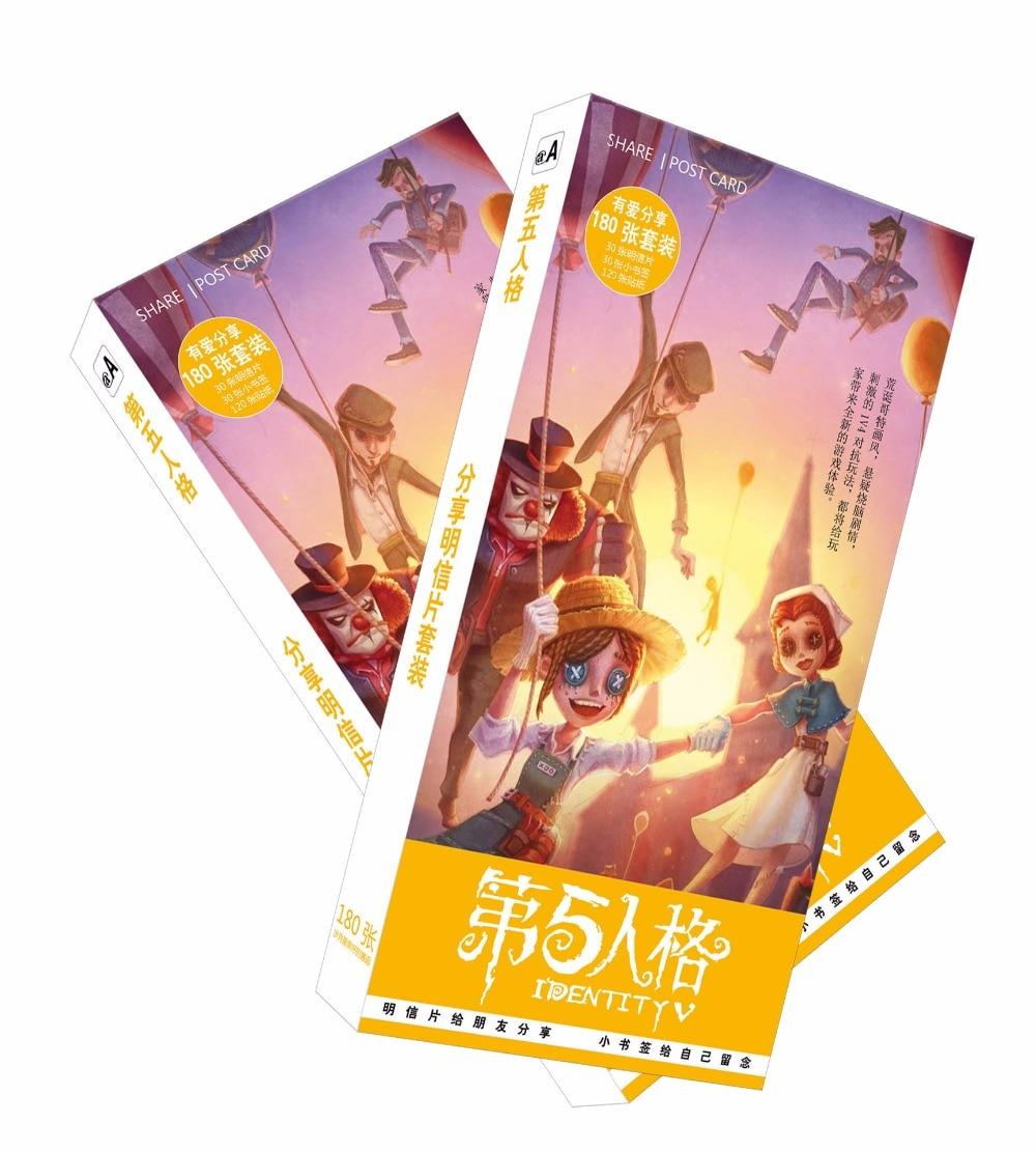 все цены на 180pcs/Set Horror Game Identity V Postcard/Greeting Card/Message Card/Christmas and New Year gifts онлайн